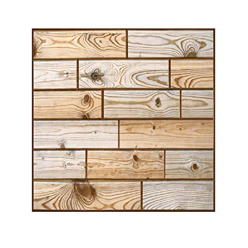 (Tpyx Wood Grain Ceramic Tile Wall Wall self - Adhesive Waterproof Background Wallpaper (10))