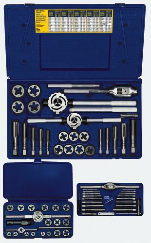 Irwin Industrial Tools 97312 Metric Tap and Hex Die Set, 66-Piece