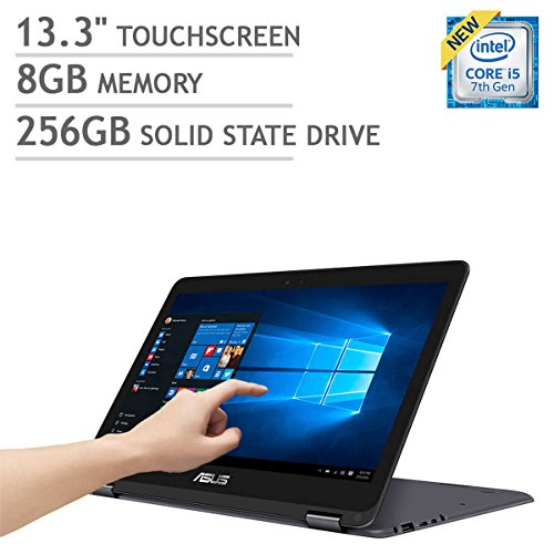 ASUS ZenBook Flip UX360CA 2-in-1 - 13.3' Touchscreen QHD+ (3200x1800) | Intel Core i5-7Y54 | 256GB SSD | 8GB RAM | Bluetooth | Windows 10 - Dark Grey