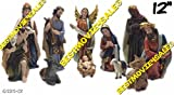 12 Inch Christmas Nativity Complete Set/11 Pieces -Nacimiento Navideno 11pcs New