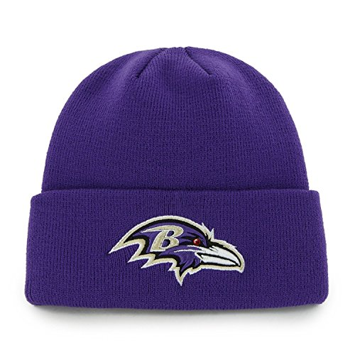 ('47 Brand Baltimore Ravens Purple Cuff Beanie Hat - NFL Cuffed Winter Knit Toque Cap )
