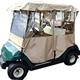 Hindom 2 Passenger Golf Cart Enclosure, Club Car Cover, Travel Club Car Covers with 2 Seater & 4 Side