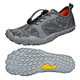 QANSI Mens Running Shoes Summer Water Shoes Mesh Breathable for Barefoot Athletic Hiking Sports Gym Shoes
