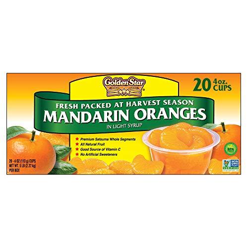 Golden Star Mandarin Oranges (Mandarin Oranges in Light Syrup, 20 Cups)
