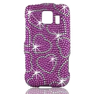 Talon 15045 Full Diamond Bling Phone Shell for LG LS670 Optimus S - Sprint - 1 Pack - Retail Packaging - Hot Pink