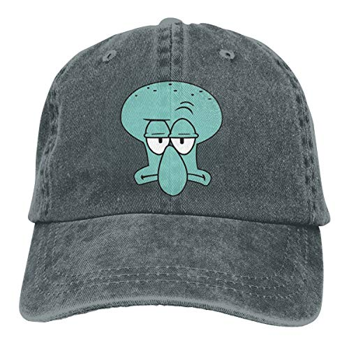 E5a5as Squid-Ward Face Head Retro Adjustable Cowboy Denim Hat Unisex Hip Hop Deep Heather Baseball Caps -