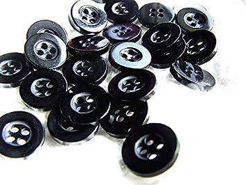 100 botones negros de 11 mm para camisa, redondos: Amazon.es: Salud y cuidado personal