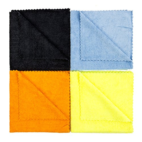 dry rite 39 s best edgeless wonder microfiber cloth pack of 8 mixed color cleaning towels for
