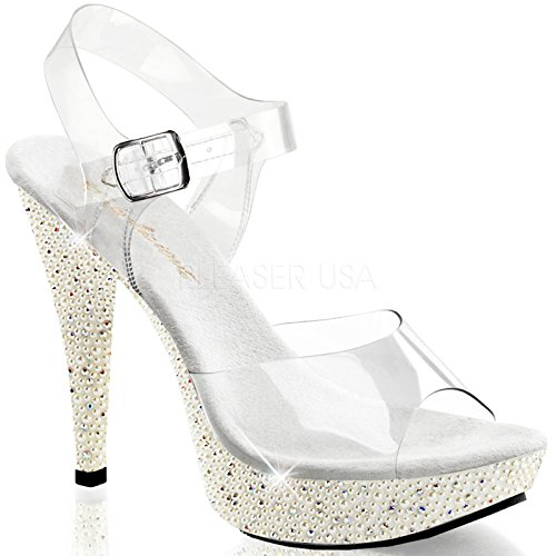 Pleaser Fabulicious Women's Cocktail 508PRL Clear Sandals...