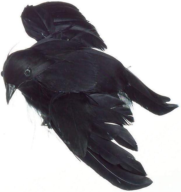 Darice 1307-30 Feathered Flying Bird Crow, 4-inch Height