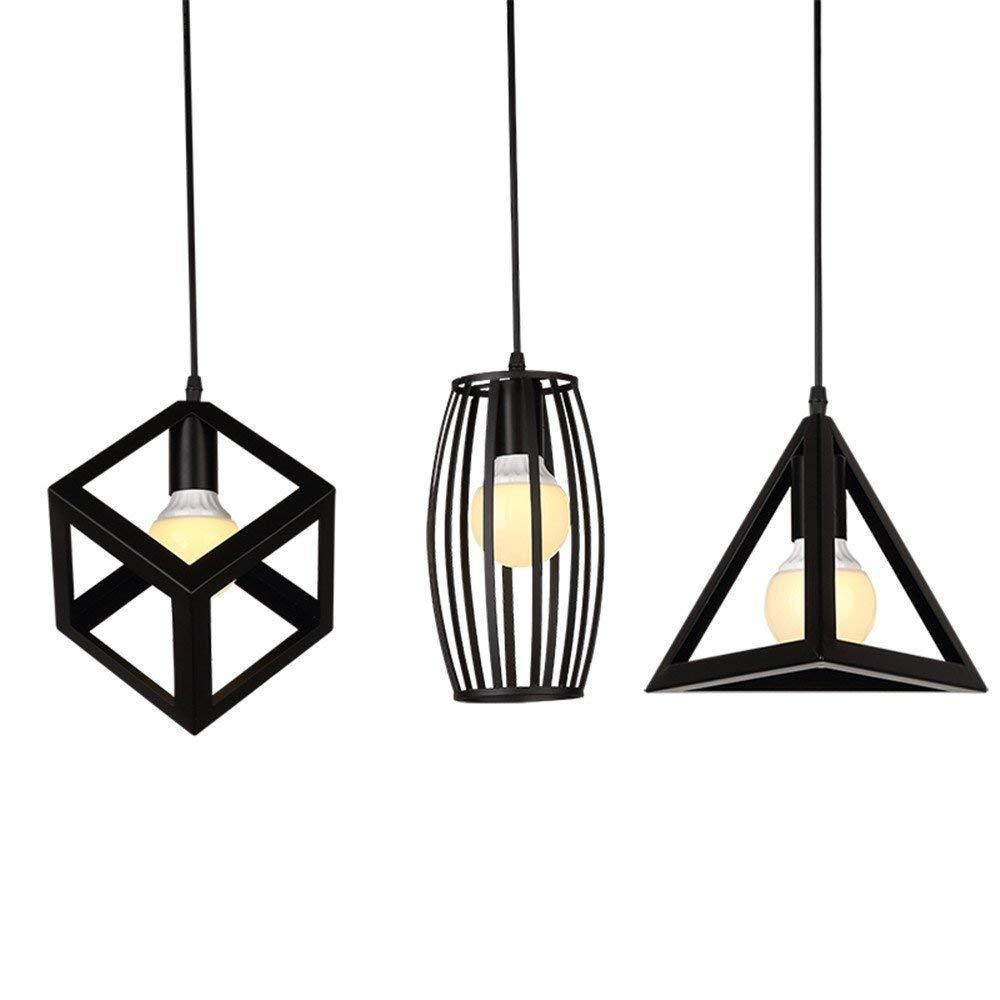 Eeayyygch Nordic Retro Industrial Wind Kronleuchter Kreative Kunst CAF & Eacute; Einzelnes Hauptlicht Birdcage Little Lights Schatten Restaurant Licht, 14x24cm (Farbe   23x20cm)