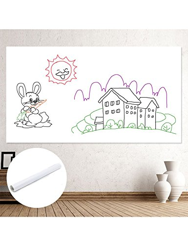 White Board Sheet-- Dry Erase Board Sticker For Home, Office & Stores Messages Using, White Board Sticker With Size 45cmx2m, made of ECO-Friendly PVC, Good For Kids Education & DIY Works