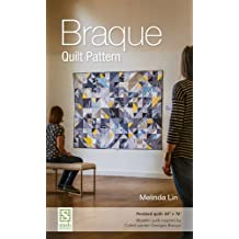"""Braque Quilt Pattern: Finished Quilt: 60"""" x 76"""" -Modern Quilt Inspired by Cubist Painter Georges Braque"""