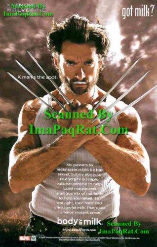 Got Milk? Wolverine X-Men Origins: Hugh Jackman: Great Photo Print Ad!