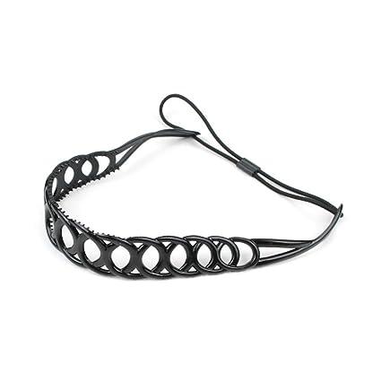 sconto speciale di a piedi scatti di vendita calda reale Fascia/Hairband in silicone, con denti del pettine e ...