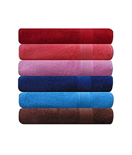 Style Urban 100% Cotton Colored Hand Towel (Size 16 x 24 inches) Set of 6 pcs