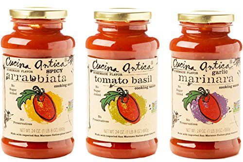 Cucina Antica Non-GMO Pasta Sauce, Variety Pack, 3 Count