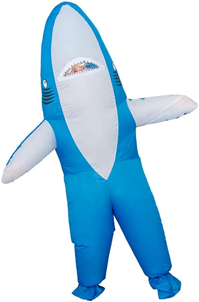 Inflatable Costume for Adult Funny Shark/Giraffe/Banana Costume Halloween Party Costume Full Body Blow up Costume