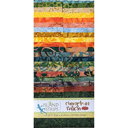 Kathy Engle Pumpkin Patch Strips 40 2.5-inch Strips Jelly Roll Island Batik