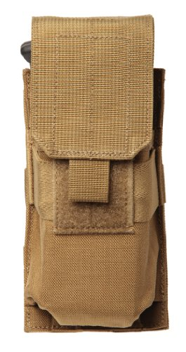 Single M16 (BLACKHAWK! S.T.R.I.K.E. M4/M16 Single Mag Pouch (Made in USA), Coyote Tan)