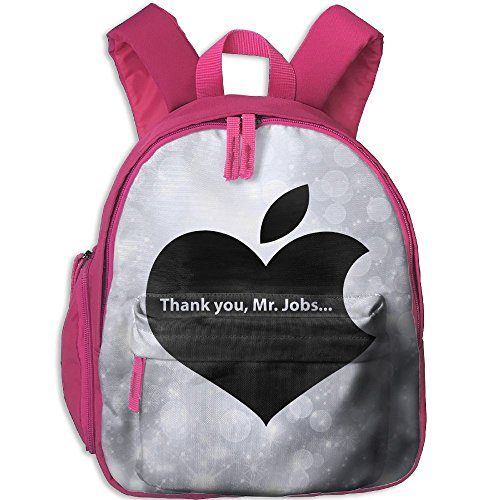 Small School Bookbag Create My Own With THANK YOU Mr JOBS For Kindergarten Unisex Kids Pink