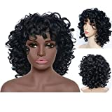 Best African American Wigs - Synthetic Wigs for Black Women Black Curly Wig Review