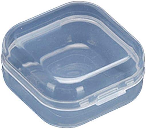 Vkospy Caja de plástico Transparente 20pcs Mini Multifuncional Cuadrados Monedas almacenaje de la Cubierta del Caso de contenedores: Amazon.es: Hogar