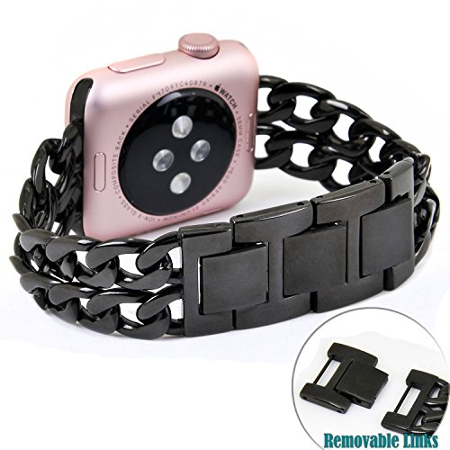 no1seller-stainless-steel-apple-watch-band-for-series-1-series-2-38mm-black