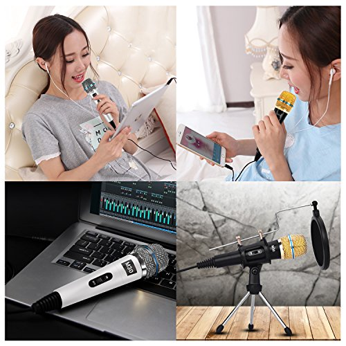Professional Condenser Microphone Recording with Stand for PC Computer iphone Phone Android Ipad Podcasting, Online Chatting Mini Microphones by XIAOKOA by XIAOKOA (Image #5)