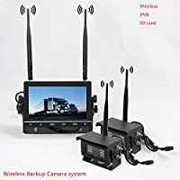 2pcs Wireless Backup Rear View Reverse Camera For Pickup Truck Vans Super Heavy Duty Truck Trailer