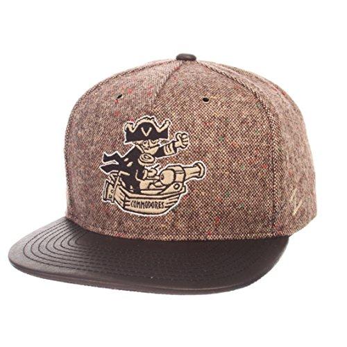 Zephyr NCAA Vanderbilt Commodores Men's Legend Heritage Collection Hat, Adjustable, Tweed