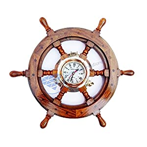 51FK5xgqS-L._SS300_ Best Ship Wheel Clocks