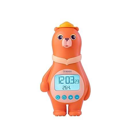 Oregon Scientific BC100 - Reloj despertador infantil digital radio-controlado, diseño de oso,