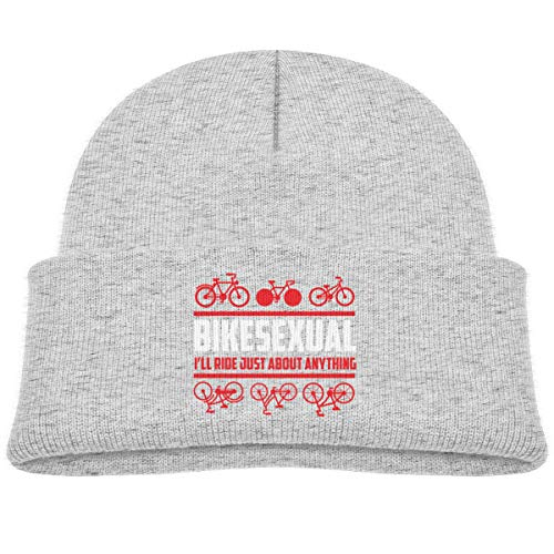 Bikesexual I'll Ride Just About Anything Infant Beanie Cap Knit Hat Gray ()