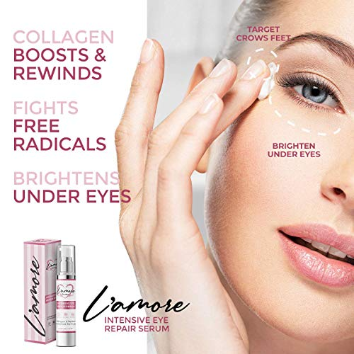 51FK7LtmU%2BL - Intensive Eye Serum for Dark Circles, Puffiness & Bags Under Eyes with Collagen & Retinol - Anti Aging & Anti Wrinkle Under Eye Gel