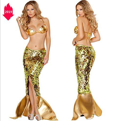 Halloween New Night Sequins Mermaid Cosplay Costume Game Clothing Bar Dj Female Singer Dance -