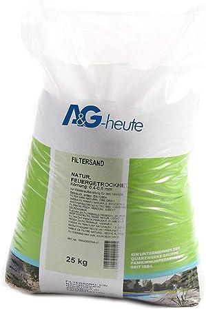 25 kg Filtersand Filterkies Quarzsand Poolsand für Poolfilter und Filteranlagen