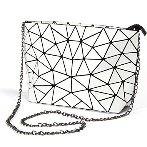Women Hot Handbag PU Leather bags(white) - 2
