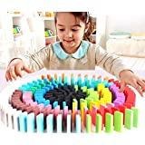 Seven Moon Good Quality Wooden Domino Run Board Building Blocks Educational Toys for Children Boy Girl Games Kids Gift - (Pack of 120 Pcs)