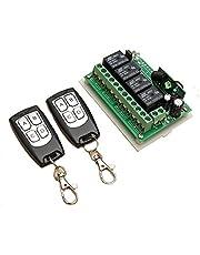 Funkfernbedienung INSMA 433 MHz 12V 4CH Wireless Fernbedienung Schalter Relaisschalter 2 Transceiver mit 1 Empfänger Remote Control für Fenster, Garagentor, Spielzeugauto etc. Zentralverriegelung