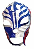 Main Street 24/7 WWE Licensed Rey Mysterio Youths Kid Size Half Blue Half White Leather Pro Grade Mask