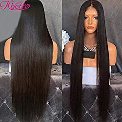 Kbeth 10A Human Hair Straight 3 Bundles Brazilian Virgin Remy Hair Straight Human Weave Bundles Extension (20 22 24 inch Natural Black Color)