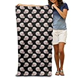 GHEDPO Bath Towel Cool Skull Poker Adults Cotton 31 X 51-Inch