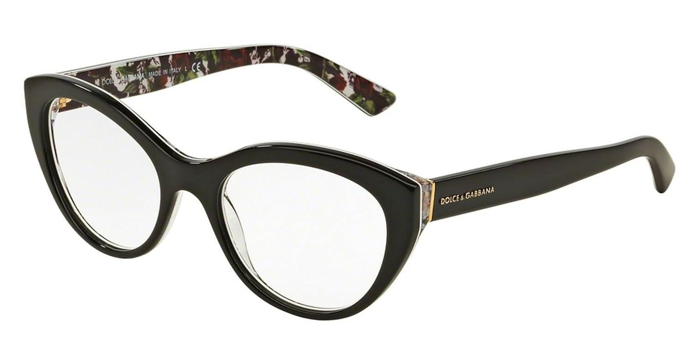 2468901e6dd Dolce   Gabbana DG 3246 Col.3021 Cal.51 New EYEGLASSES-EYEWEAR   Amazon.co.uk  Clothing