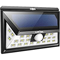 Litom Solar Lights Outdoor, Wireless 24 LED Motion Sensor...