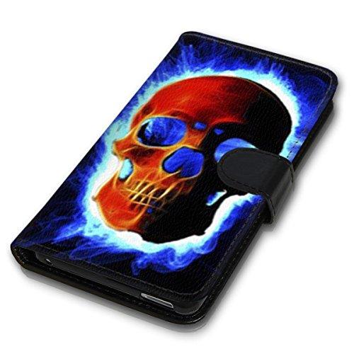 Wallet Book Style Flip Handy Tasche Case Schutz Hülle Schale Motiv Etui für Apple iPhone 6 / 6S - Design Flip MV110