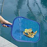 GKanMore Swimming Pool Skimmer Net Leaf Skimmer Net Plastic Rake Net for Spa Pond Pool, Pool Cleaner Supplies and Accessories