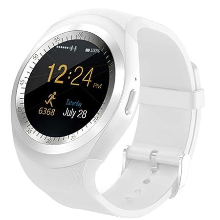 Haludock Quad-Band Aufruf Y1 Smart Watch Bluetooth Phone Mate runden Bildschirm Schrittzähler Remote Fotos Sport-Modus für iO