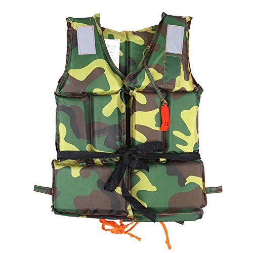 VGEBY Adult/Child Swimming Life Jacket Buoyancy Aid Vest Safety Survival for Outdoor Water Sport Boating Drifting (Color : Child Camouflage)