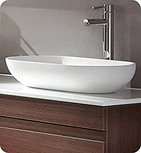 plastic bathroom sink fresca fvs8054wh oval acrylic modern bathroom vessel sink 13999